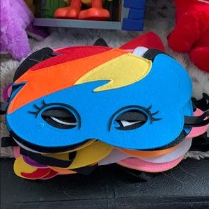 Set of 10 my little pony masks